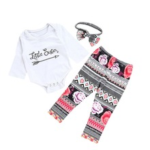 Puseky Sister Matching Outfits Kid Baby Clothes Set 2Pcs Big Sister T-shirt+Floral Pants Little Sister Bodysuit+Trouser Autumn