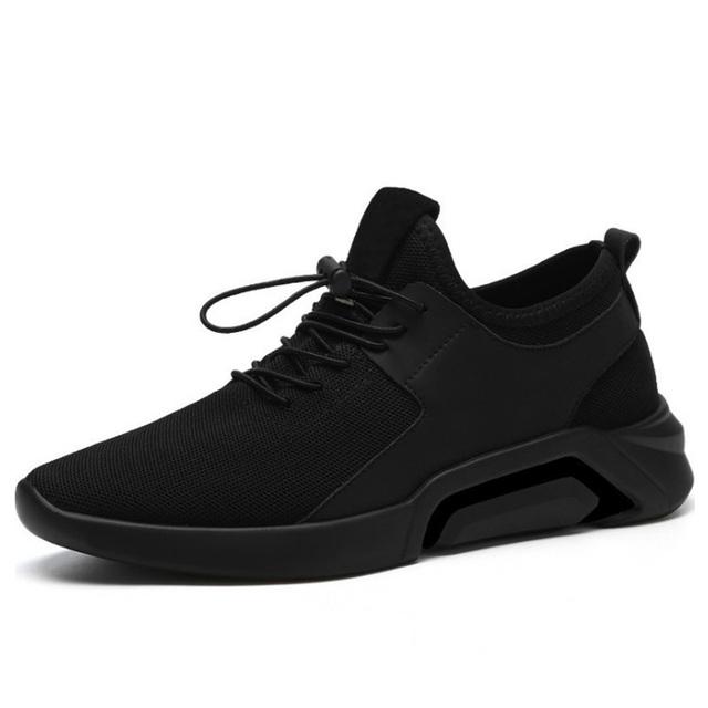 Merkmak 2019 nuevo transpirable zapatos Casual ligero caminar hombre Zapatillas moda cordones calzado cómodo malla hombres zapatos Casual