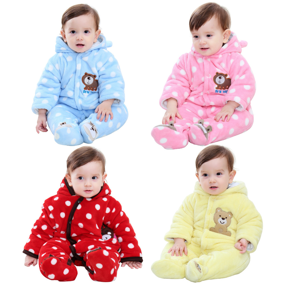 Baby   Rompers   Winter Jumpsuits Warm Baby Clothes Newborn Girl Boy Down Cotton Snowsuit One Piece
