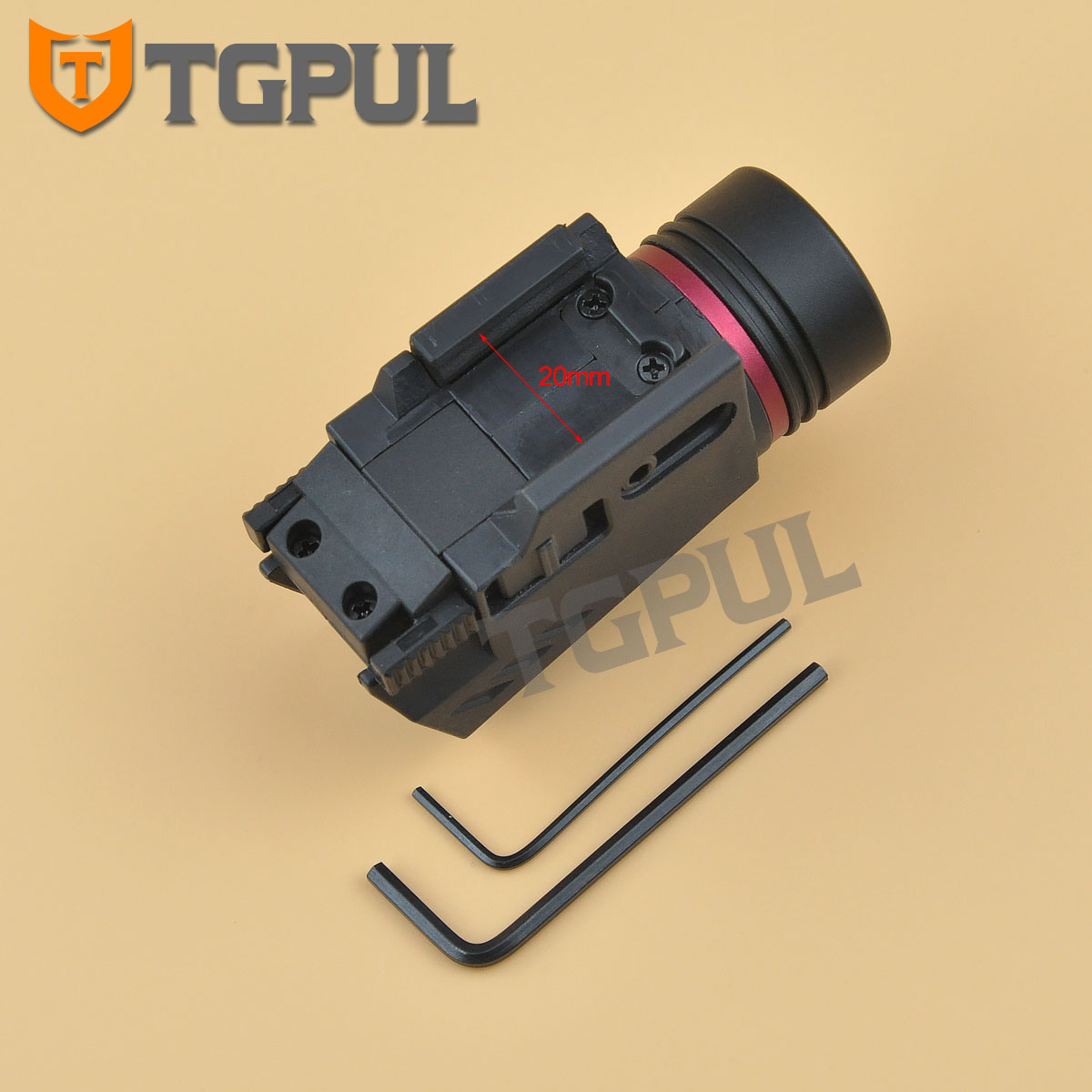 Tgpul lanterna laser vermelha tática, combo de