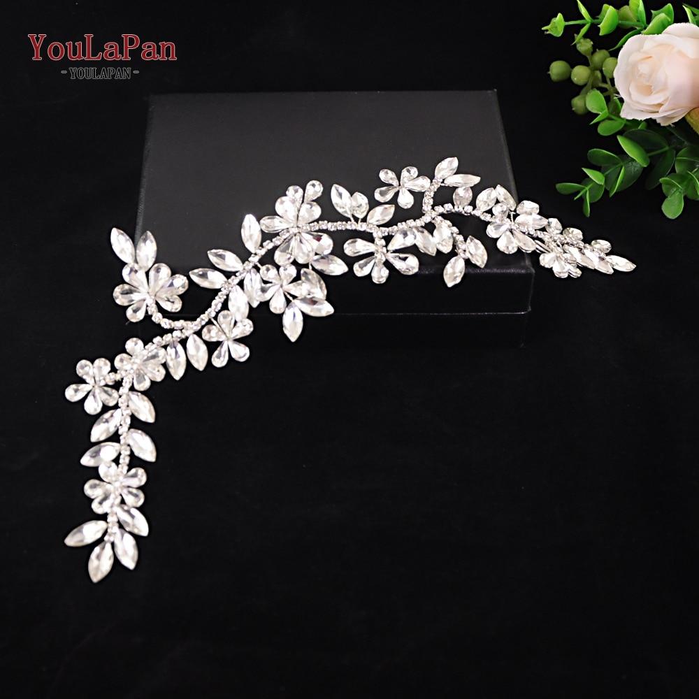 YouLaPan HP239 wedding hair accessories rhinestone bridal headpiece tiara headband vine crystal