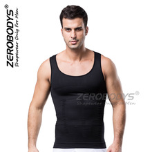 ZEROBODYS Men's Shapers Slimming T Shirt Waist Corset Underwear Breathable Seamless Compression Bodybuilding Shapers eight Colors