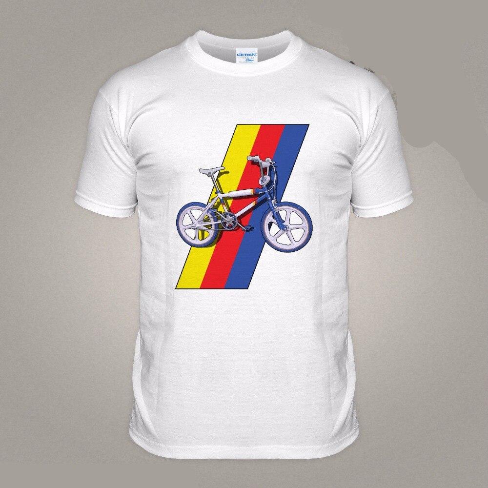 2018 New Fashion Brand Clothing Print Round Neck Man T shirt BMX Retro Gauner 80er jahre Klassische Dirt Biker Fahrrad Grau Tee