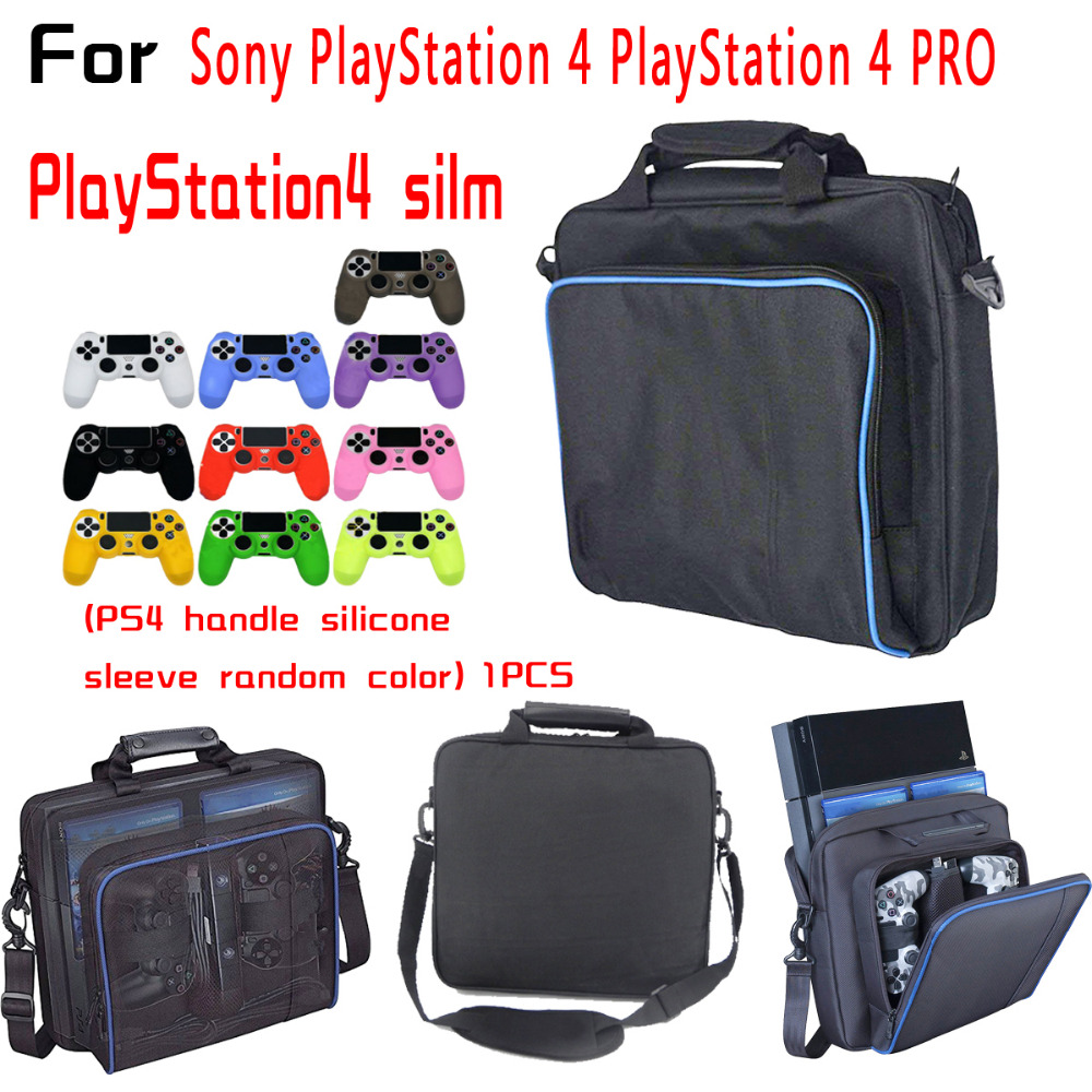 SchöN Spiel Rucksack Für Ps4 Ps4 Pro Einstellbare Schulter Gurt Kompatibel Gerät-video Game Player Videospiele Ps4 Griff Silikon Fall Knitterfestigkeit