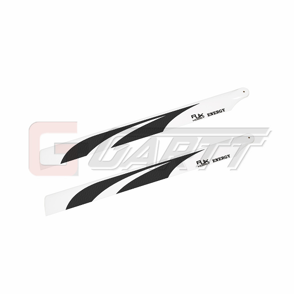 GARTT RJX High Quality Carbon Fiber Main Blades (690mm) 700 RC helicopter blades