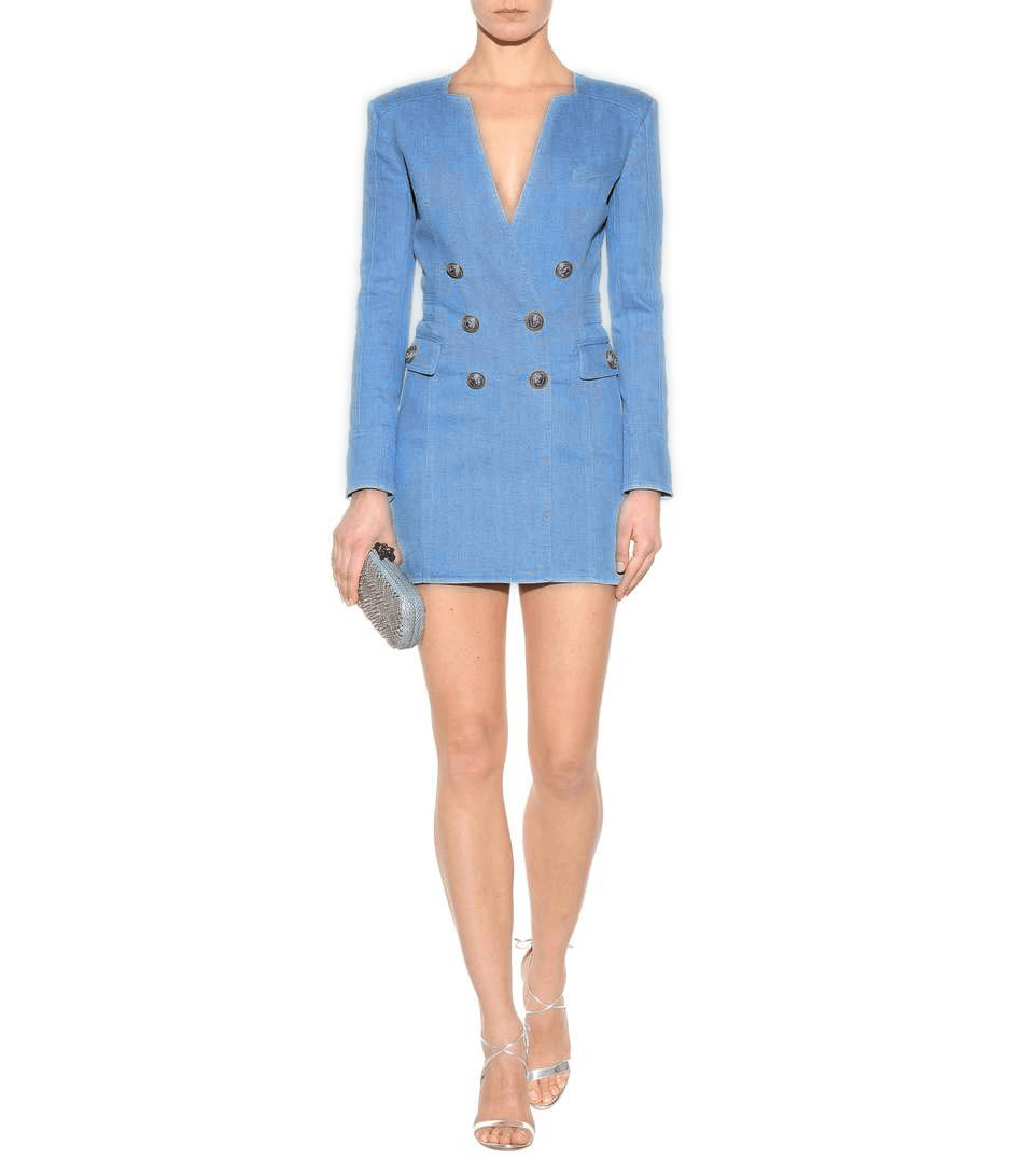 Celebrity Bleu Col Longues Élégant En À Sexy Robes Club V Party Femmes Gros Date Moulante Robe Soirée Manches Xx5ASB1