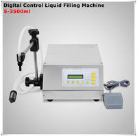 Manual Electric Digital Control Pump Liquid Filling And Sealing Machine 3 3000ml Oil Wine Milk Juice