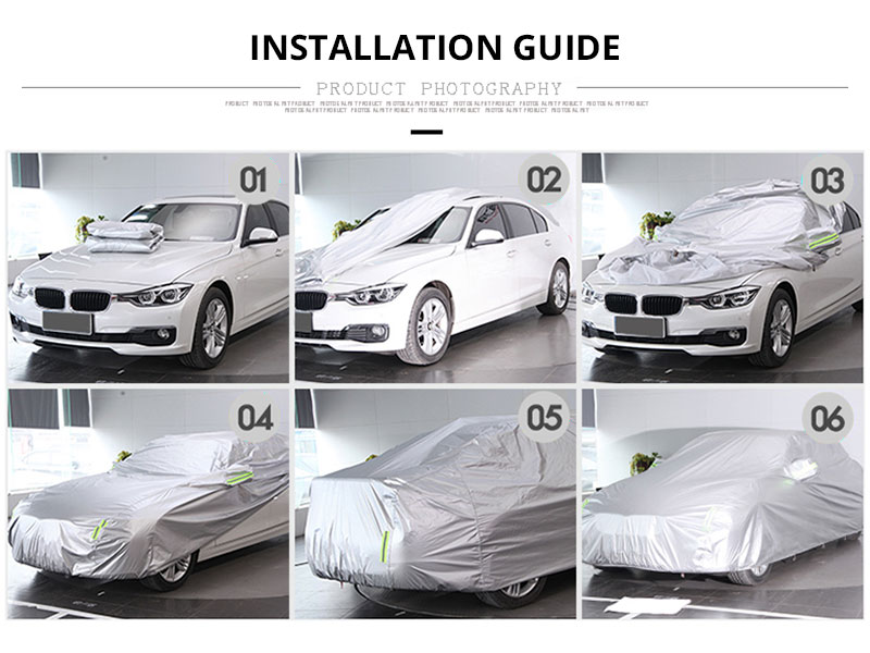 Car Cover Sedan SUV Tent Covers Sun Reflective Shade Rain Frost Snow Dust Waterproof Protection Anti UV Outdoor Car Accessories (13)
