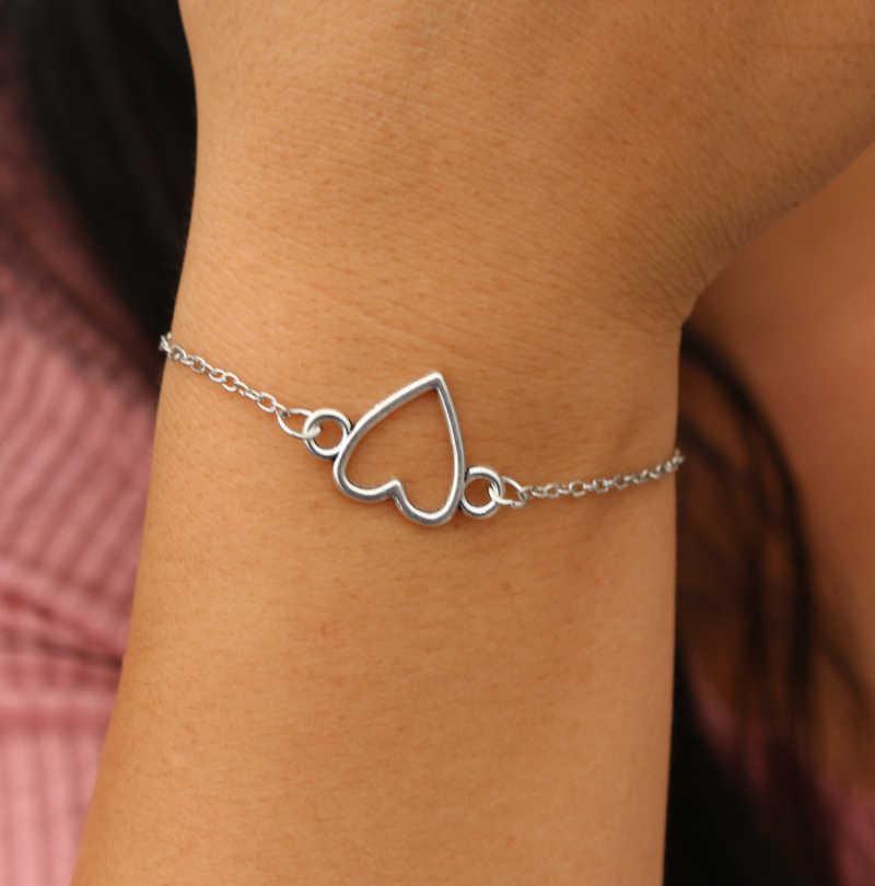 Лидер продаж, аксессуары для голубых глаз, винтажные креативные наручники, металлический браслет в виде сердца, браслет для женщин и мужчин, унисекс, браслеты, хороший подарок