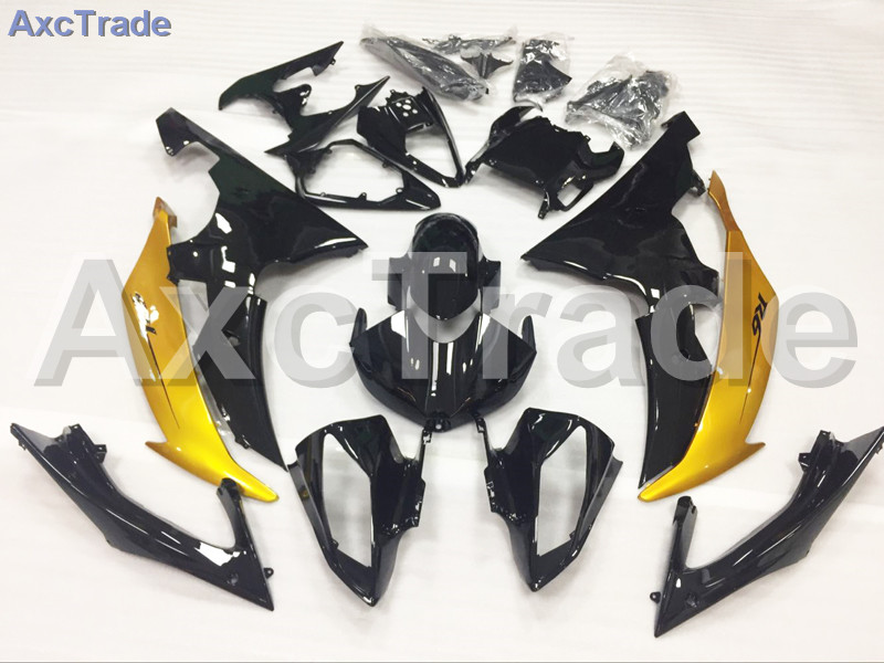 Motorcycle Fairings Kits For Yamaha YZF600 YZF 600  R6 YZF-R6 2008-2014 08 - 14 ABS Injection Fairing Bodywork Kit Yellow Black hot sales yzf600 r6 08 14 set for yamaha r6 fairing kit 2008 2014 red and white bodywork fairings injection molding