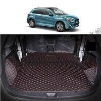 Lsrtw2017 волокна кожи багажник автомобиля коврик для mitsubishi asx Outlander Sport RVR 2010 2011 2012 2013 2014 2015 2016 2017 2018 2019