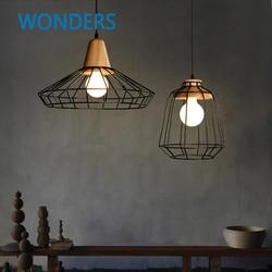 Skrivo design nowoczesne drewno i lampa z żelaza lampy wiszące lampy wiszące restauracja/bar kawa jadalnia wisząca oprawa oświetleniowa|hanging lighting fixtures|designer light fixtureslight fixtures -