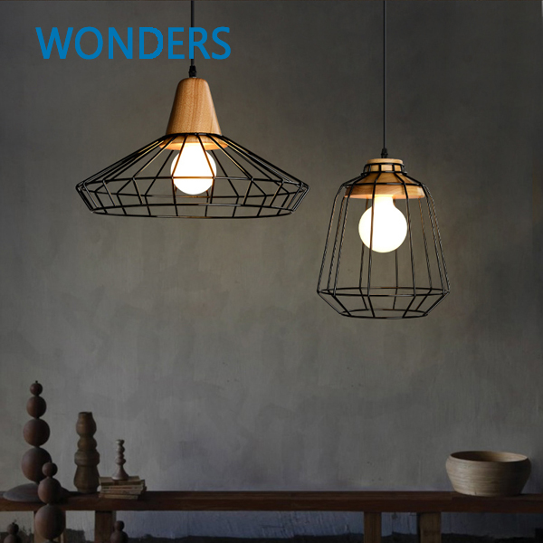 skrivo diseo moderno de madera y lmpara de hierro pendiente lmparas de techo luces restaurante bar