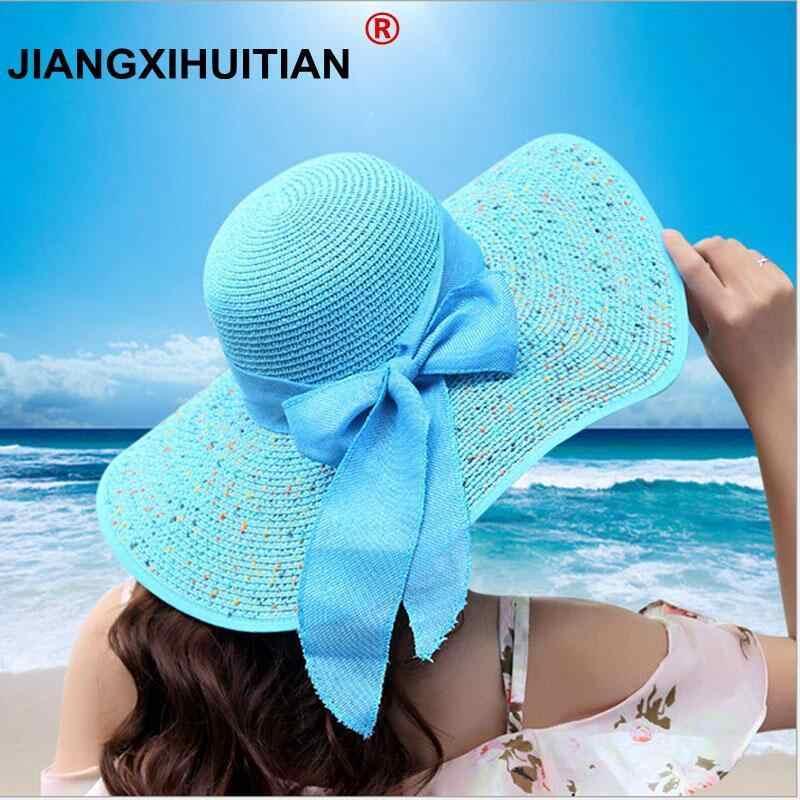 Jiangxihuitian Лето 2018 г. женские пляжные шляпы складной шифон Floppy  Защита от солнца шапки повседневное ddc2dd31b23