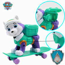 Paw Patrol Everest Skateboard Dog Puppies Rescue Toys PVC Anime Figure Action Model Doll Kids Birthday Gift