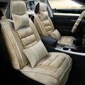 3D Pelúcia Inverno Almofada Tampa de Assento Do Carro Para Infiniti EX25 FX35/45/50 G35/37 JX35 Q70L QX80/56, Alta-fibra de Couro, Carro-Cobre