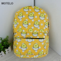 Cute Japan Cartoon Gudetama Lazy Egg Printed Canvas Kids School Backpack Bags B H
