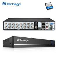 Techage H.264 16CH 1080N AHD CCTV DVR NVR P2P سحابة الأمن مسجل فيديو رقمي ل 1080P HDMI فيديو التناظرية AHD IP كاميرا|مسجل فيديو المراقبة|   -