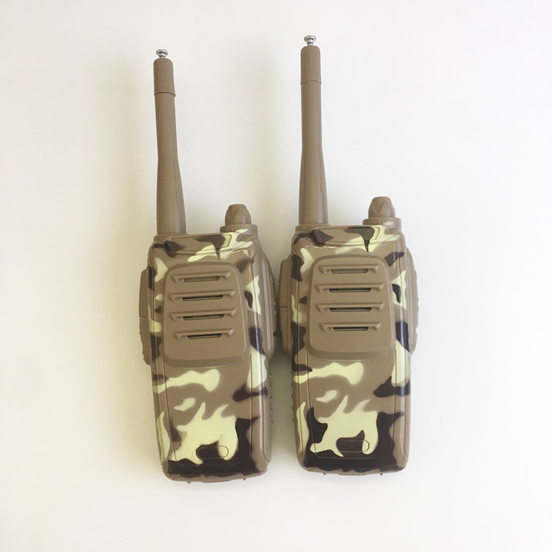 2 Pcs  Camo Watches Walkie Talkie 7 In 1 Children Watch Radio Outdoor Walkie Talkies For  Kids Toy