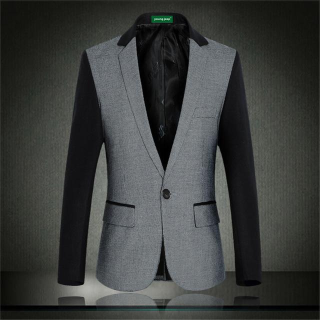2016 Autumn & Winter estilo Coreano de alta calidad cómoda chaqueta Personalizada empalme casual bussiness hombres de la moda chaqueta M-6XL