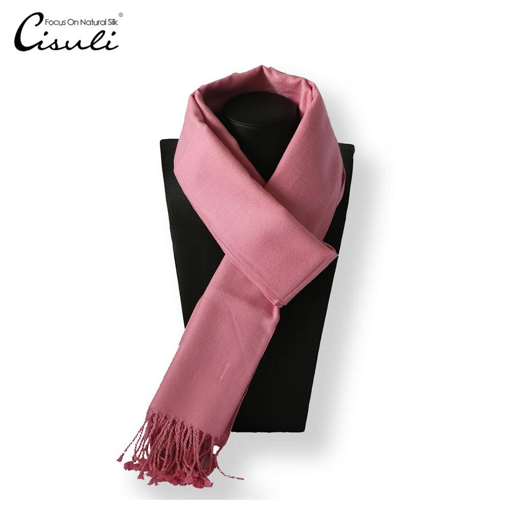 100% Seide Samt Winter Schal Für Frauen 30 Cm X 180 Cm Neue Desigual Unisex Schal Winter Schal Rosa Farbe