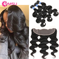 Malaysian Body Wave With Closure 13X4 Lace Frontal Lace Base Amazing Hair Company Malaysian Virgin Hair With Frontal and Bundles