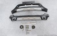 ABS CHROME CAR FRONT+REAR BUMPERS PROTECTOR GUARD SKID PLATE FIT FOR PEUGEOT 3008 2013 2014 2015 2016 2017 2018