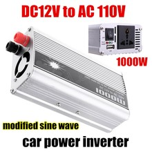 Car Power Inverter Converter 1000W DC 12V to AC 110V USB Adapter Voltage Transformer Chargers Modified Sine Wave