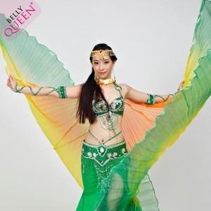 Image 3 - 2019 באיכות גבוהה בטן איזיס עבור נשים נחמד מצרים סגנון שיפוע צבע ריקוד כנפי עבור שלב להראות אבזרי isisWings