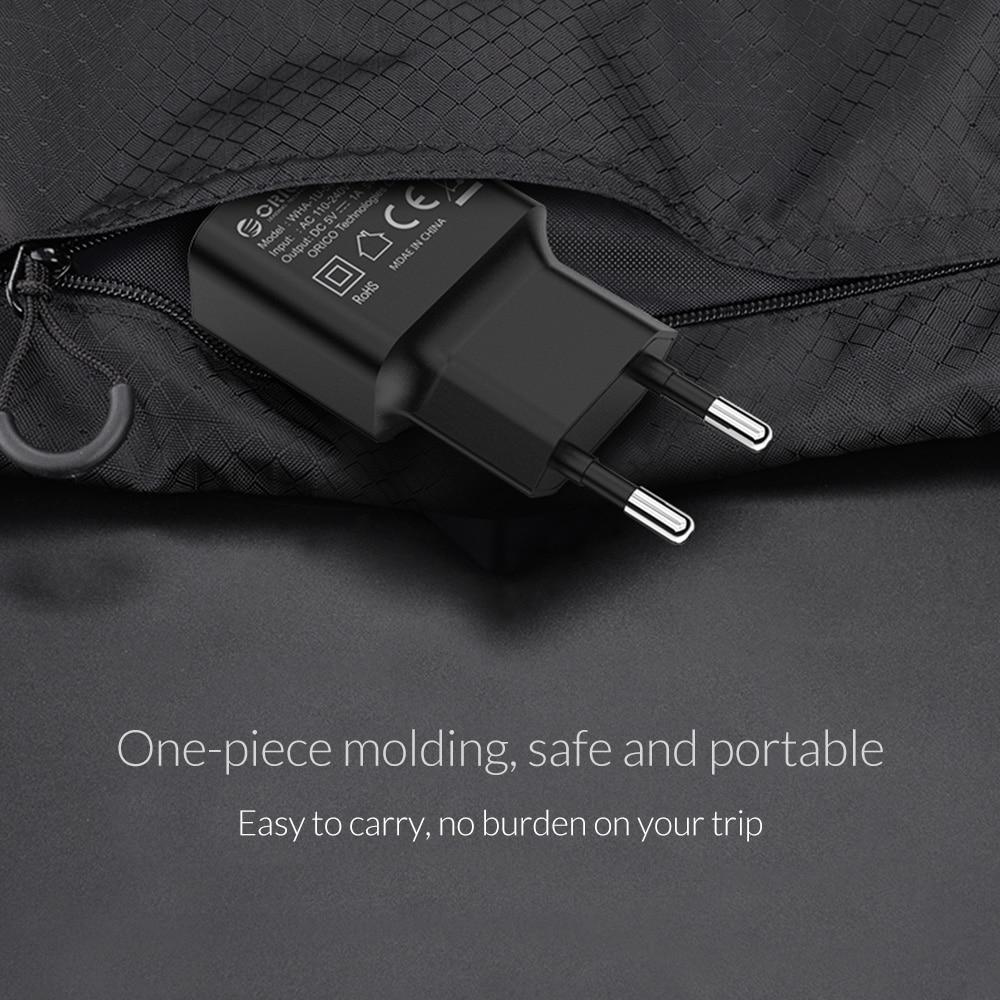 ORICO Travel USB Oplader 5V2A 5V1A EU Plug Mini Oplader Adapter Smart - Mobiltelefon tilbehør og reparation dele - Foto 3