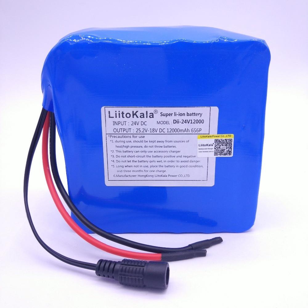 HK LiitoKala 24 v 12ah 6S6P au lithium batterie 25.2 V 12ah batterie li-ion pour batterie de vélo pack 350 w e vélo 250 w (pas de chargeur)