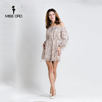 Free Shipping Missord 2016 One Word Shoulder Short Sleeve Sexy Gold Sequin Playsuit FT4112