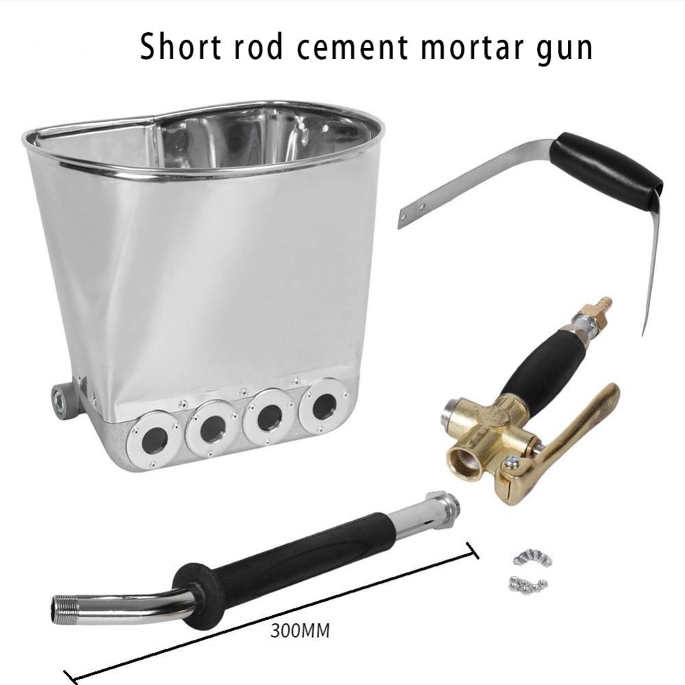 Mortar Sprayer Wall Mortar Gun Stucco Shovel Hopper Ladle Cement Spray Gun Air Stucco Sprayer Plaster Hopper New