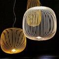 Foscarini Spokes 1/ 2 pendant lamp by Garcia Cumini Lighting Fixture for Living Room Dining Room Restaurant Study