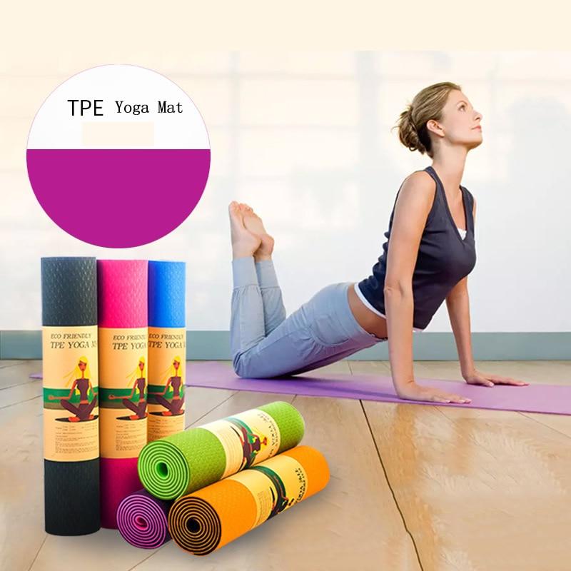 6MM TPE Yoga Mats For Fitness Tasteless Brand Pilates Mat