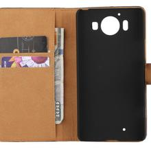 Leather-Cases Phone-Cover for Microsoft Lumia 950 550 Book-Stand-Card Wallet