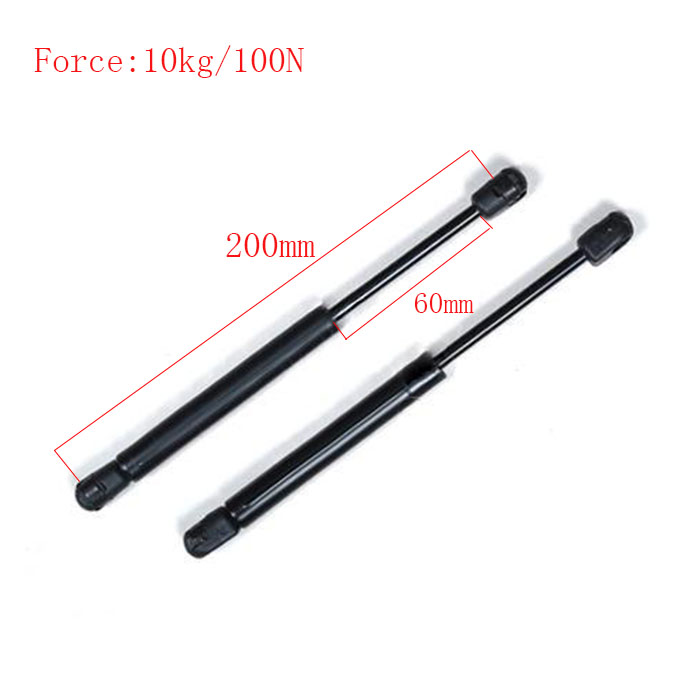 Free shipping  200mm central distance, 60 mm stroke, pneumatic Auto Gas Spring for car , Lift Prop Gas Spring Damper kitchen cabinet door lift pneumatic support hydraulic 750mm central distance 320mm strok gas spring stay for wood box