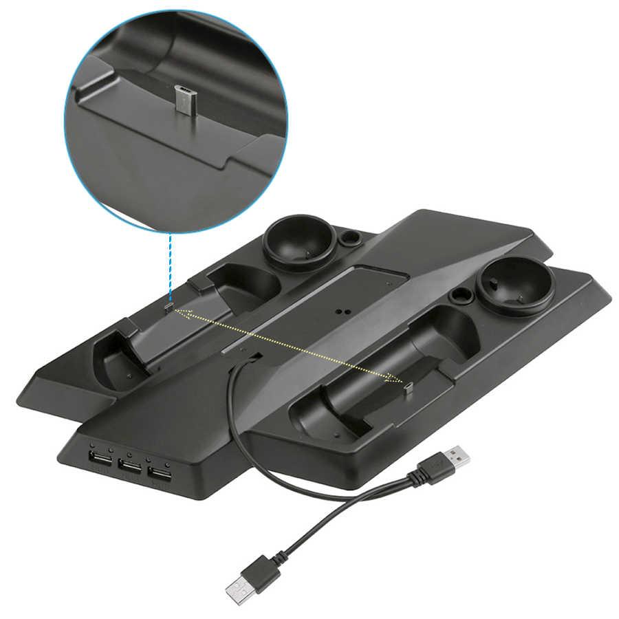 PS4 Pro Slim PS Очки виртуальной реальности VR двигаться вертикальная подставка охлаждения зарядный кронштейн для хранения, PSVR держатель гарнитуры и контроллер движения зарядная станция