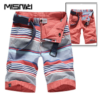 MISNIKI 2018 Summer Cotton Striped Casual Shorts Men High Quality Cargo Men Shorts Beach Male Shorts
