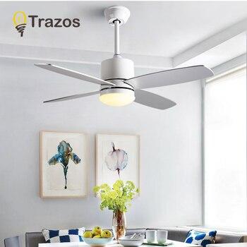 Charmant TRAZOS Nordique Ventilateur De Plafond Lumières Moderne Ventilateurs De  Refroidissement Pour Salon Salle à Manger Ventilateur électrique Chambre  Ventilateur ...