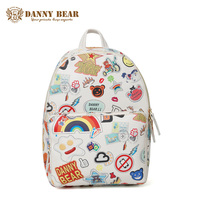 DANNY BEAR Fashion Backpacks For Teenager Girls Leather School Backpack Women Waterproof Travel Back Bag Cheap Mochila Escolar