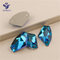 YANRUO 3256 All Sizes Blue Zircon Galactic Loose Diamond Sew On Crystal Strass Flatback Rhinestone For Garments