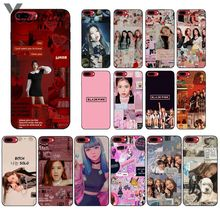 Yinuoda PINK BLACKPINK kpop collage Soft Silicone TPU Phone Cover for Apple iPhone 8 7 6 6S Plus X XS MAX 5 5S SE XR Cellphones yinuoda cat ar ariana grande soft silicone tpu phone cover for apple iphone 8 7 6 6s plus x xs max 5 5s se xr cellphones
