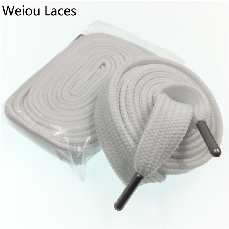 30 pair lot Weiou wide hollow custom fat shoelace Athletic White designer shoe laces wide