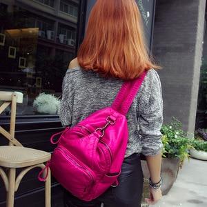 Image 3 - DDWB003 Brand Leather Schoolbag Female Backpacks Women Preppy Style High Quality Sweet Ladies Knapsack Beautiful Girl Backpack