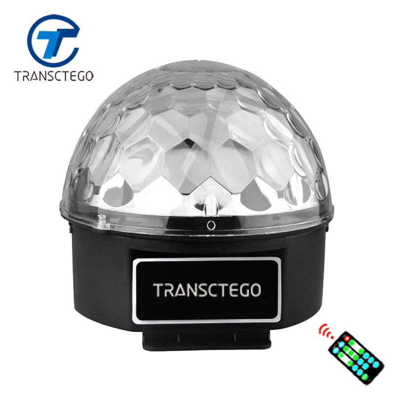 Led Tahap Lampu Kontrol Suara 6 Warna Magic Crystal Ball Disco Light Lampu Partai 110-220 V Laser Cahaya Natal Laser Proyektor