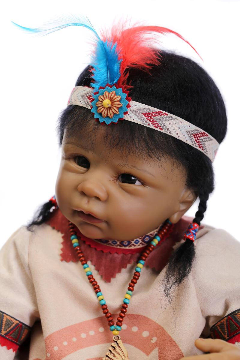 aliexpress com buy 55cm native american indian reborn baby doll