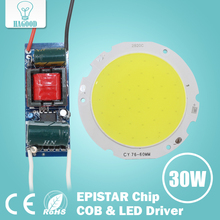 1pcs 3W 5W 7W 10W 12W 15W 20W 25W 30W COB Led Chip Board Panel for Led Spotlight Lamp + 110-240V Input LED Power Supply Driver