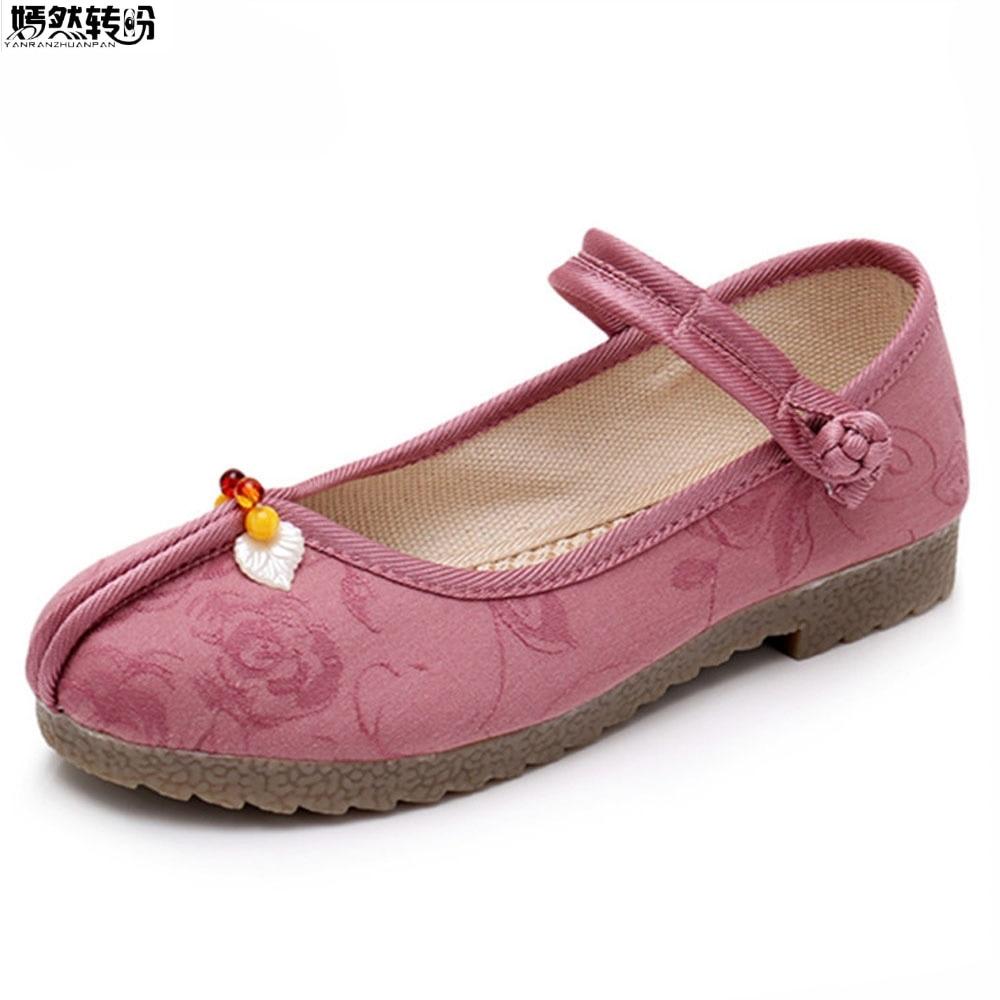 Style Marche Chaussures Voyage Femme Zapatos Beige Appartements Printemps Décontracté Danse rose Mujer gris Automne Ballerines Femmes Tissu Dames De Ethnique 8c7PqR7Cw