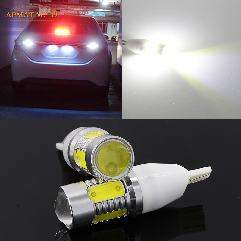 2 x T15 T16 W16W Plasma LED Projector Tail Backup Reverse Lights For Toyota Land Cruiser Matrix Prius RAV4 Sequoia Sienna Solara